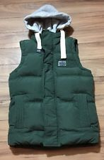 Superdry Mens Vest Dark Green With Hood Grey Detachable Academy Gilet Small   eBay