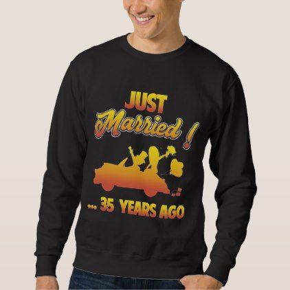 Gift For 35th Anniversary. Shirt For Husband Wife.  $38.00  by AnniversaryAndAge  - custom gift idea