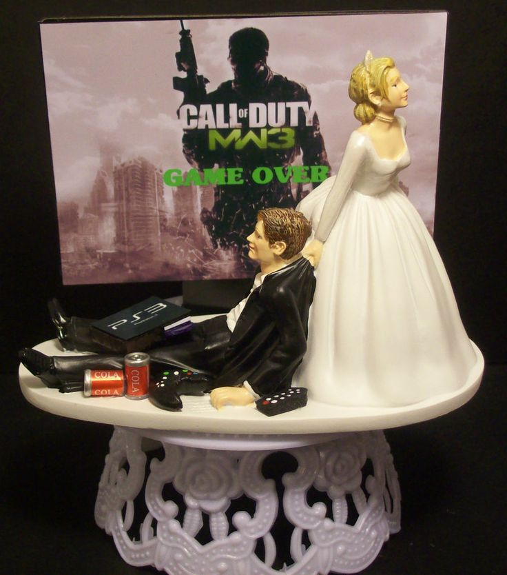 GAME MODERN WARFARE 3 MW3 FUNNY WEDDING CAKE TOPPER or Grooms Cake