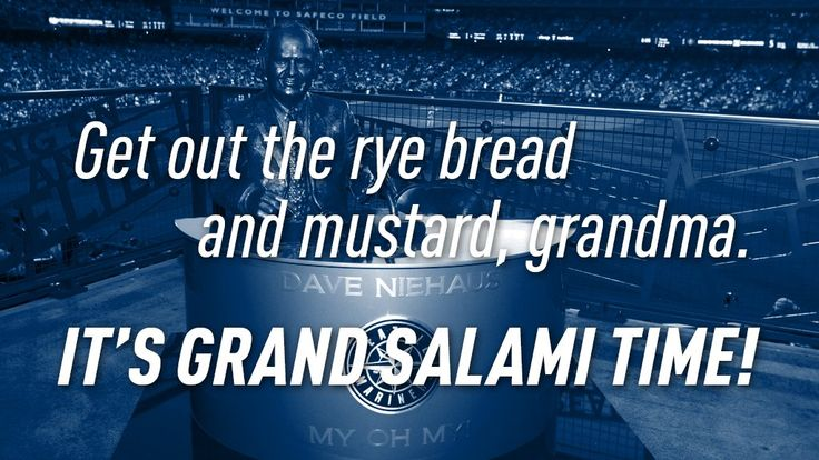 """Mariners on Twitter: """"Seth Smith with a second helping of salami! He gets his…"""