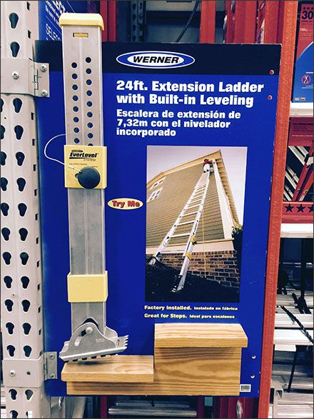 It would seem that even Ladder Pallet Rack Point-of-Purchase displays have seasons and are rotated. This Werner® Ladder Leveling Try-Me was first profited in November of 2013, but the addition of g...