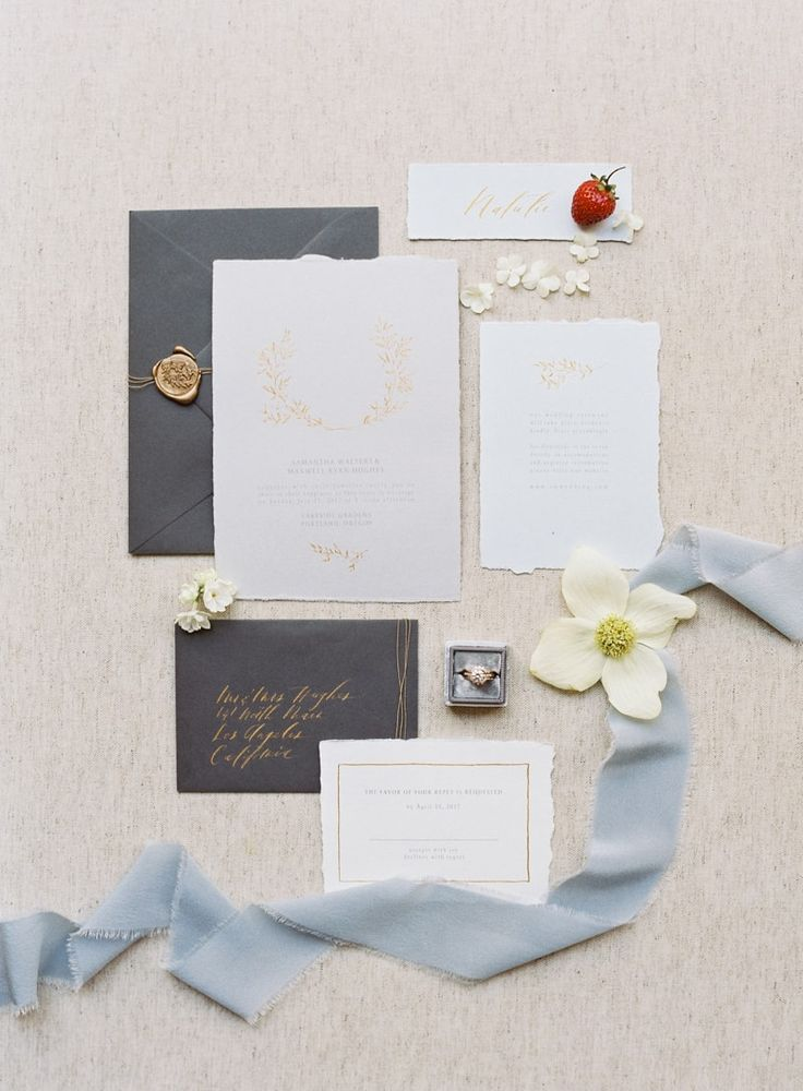 calligraphy wedding invitations from Creative Space Wedding