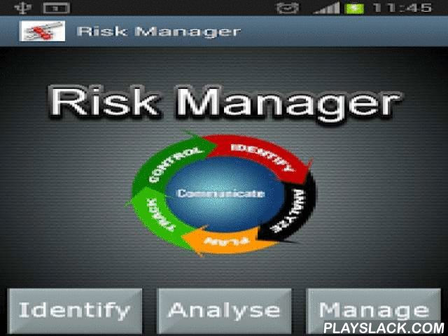 Risk Manager  Android App - playslack.com ,  Risk Manager explains key risk management principles and processes. It is the 'must have' application for junior or experienced project/programme managers keen to refresh their memory or enhance their professional expertise. Risk Manager also includes a multiple choice test on the essential principles of risk management, an ideal revision tool.Key areas covered include:1. Risk Identification 2. Risk Analysis3. Risk Management 4. Mitigation…