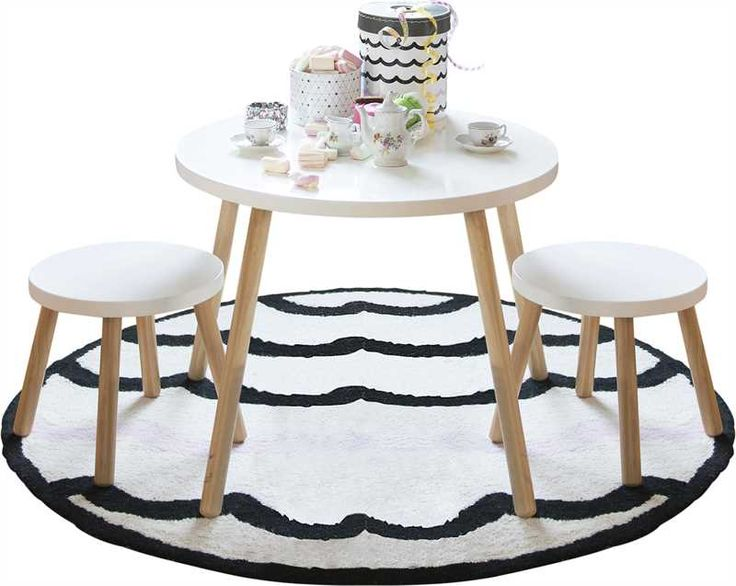 **use as coffee tables** (big one same height as Ikea stool/table) Jox Trend, Bord & 2 pallar, Vit