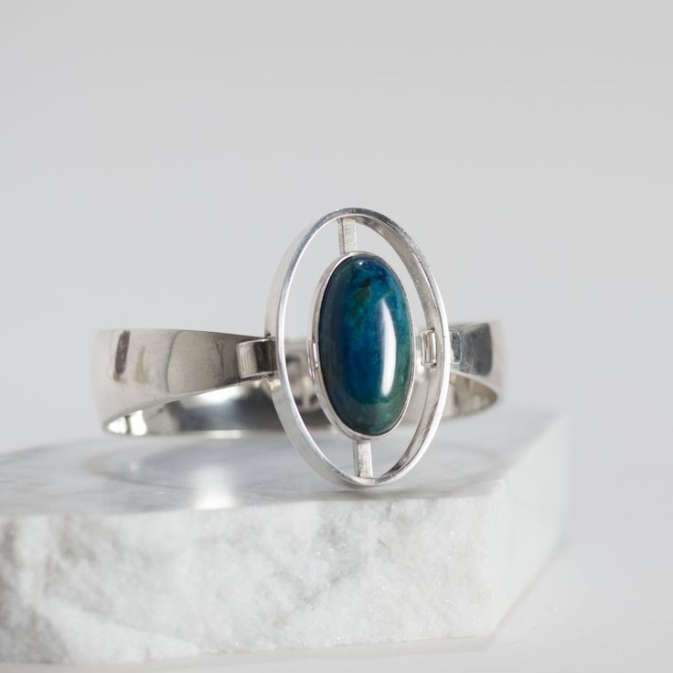 Silver and chrysocolla bracelet from Niels Erik From