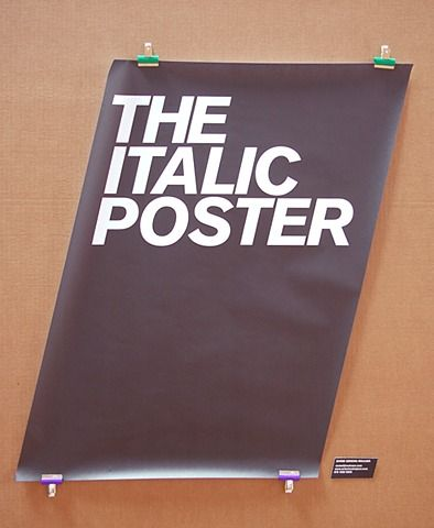 The Italic Poster.