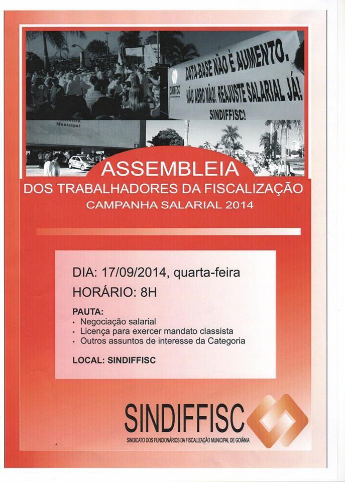 11/09/14, banner de divulgação da assembléia em 17/9/14