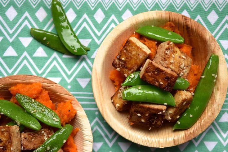 Aziatische wortelstamp met tofu