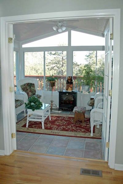 Three season porch designs fantastic four season for Cedar sunroom