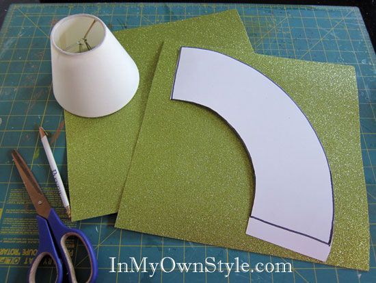 How To Make A Paper Chandelier Shade Cover