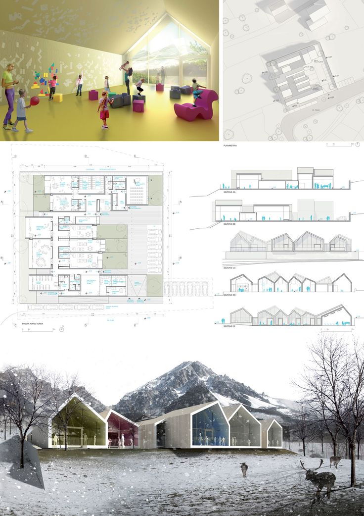 New Kindergarten and Nursery School. San Vito di Cadore / ATENASTUDIO