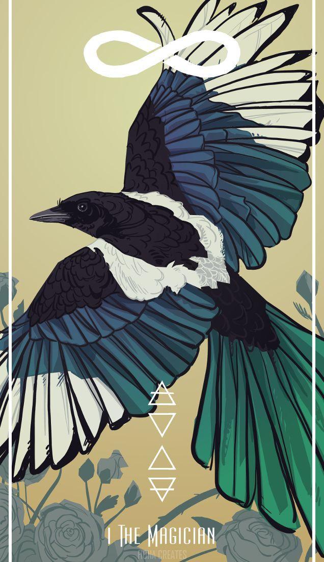 I. The Magician By FionaCreates Bird Tarot