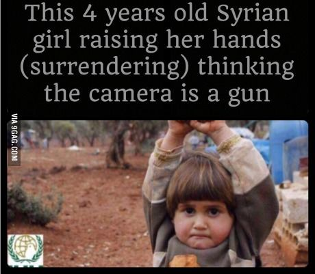 My heart goes out to the children of Syria. I hope she's okay now.