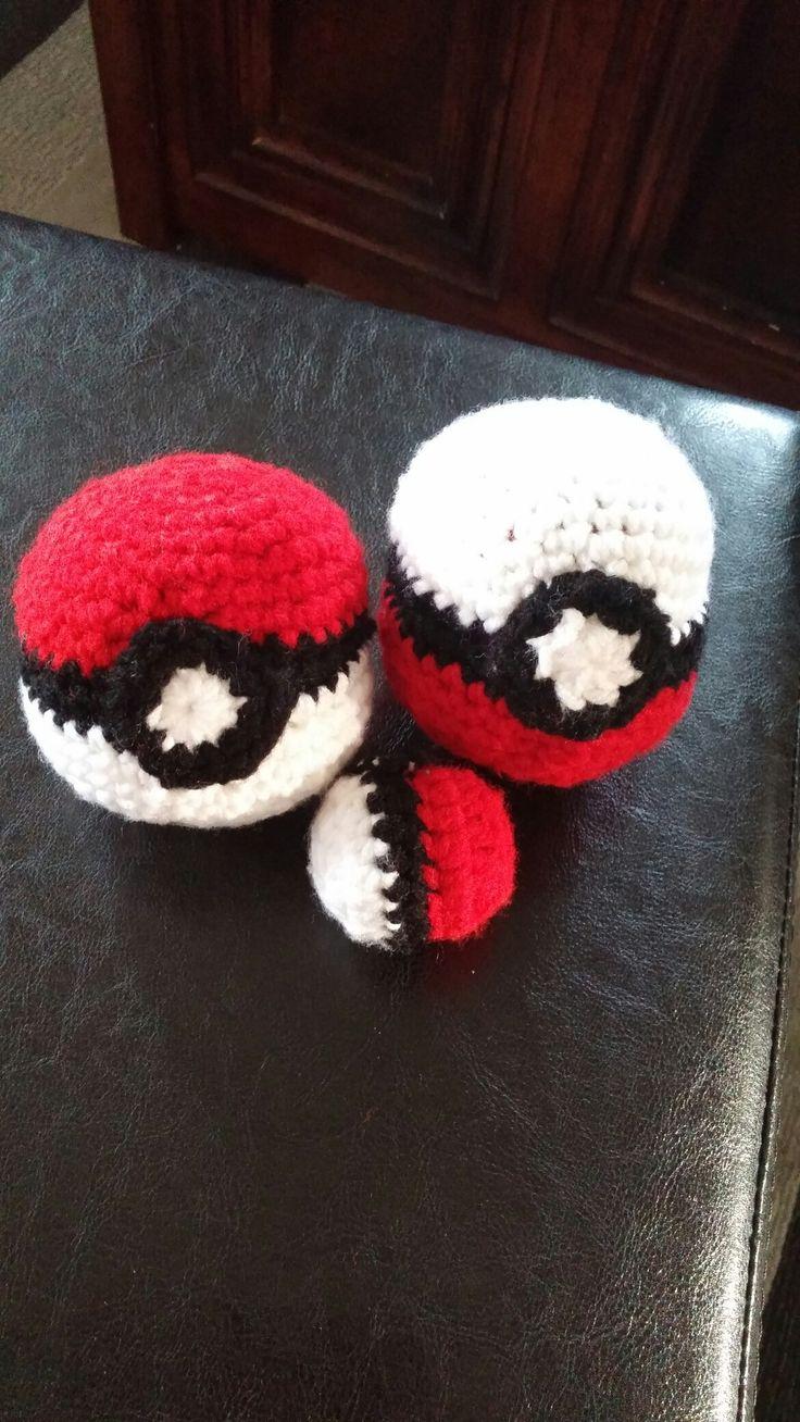 Crochet Pokemon balls
