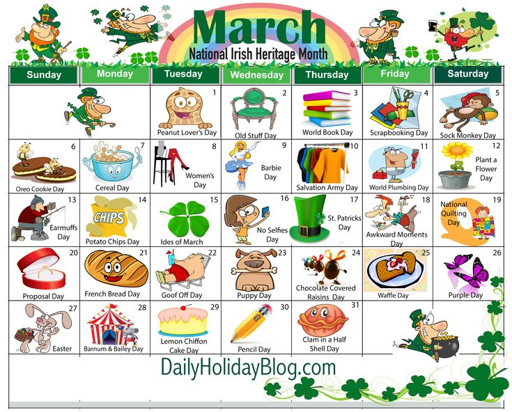 Monthly Holidays Calendars to Upload!                                                                                                                                                                                 More