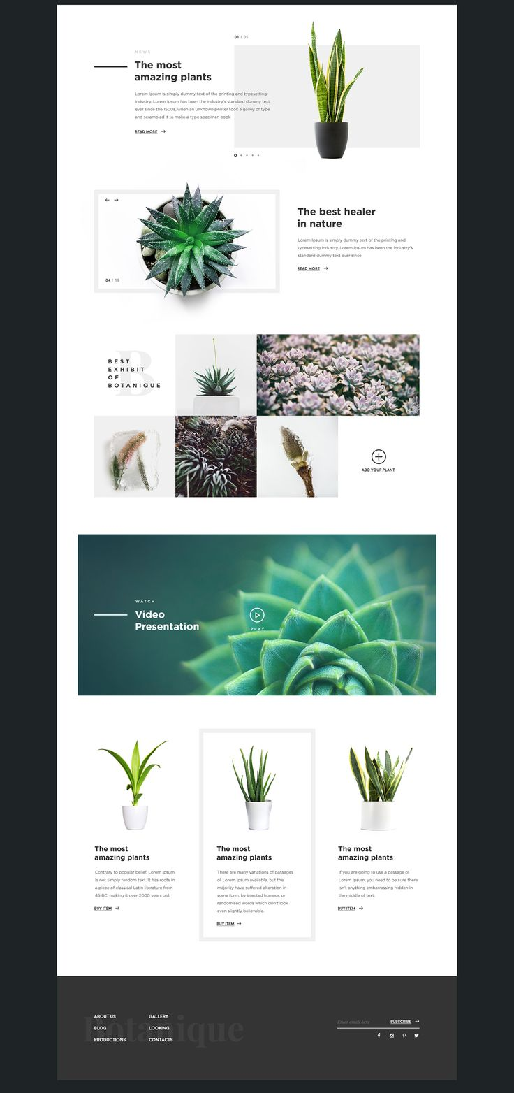 Botanique on Behance