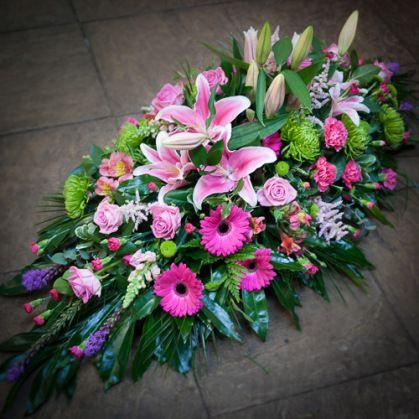 Stargazer lily, rose, spider chrysanthemum, liatris