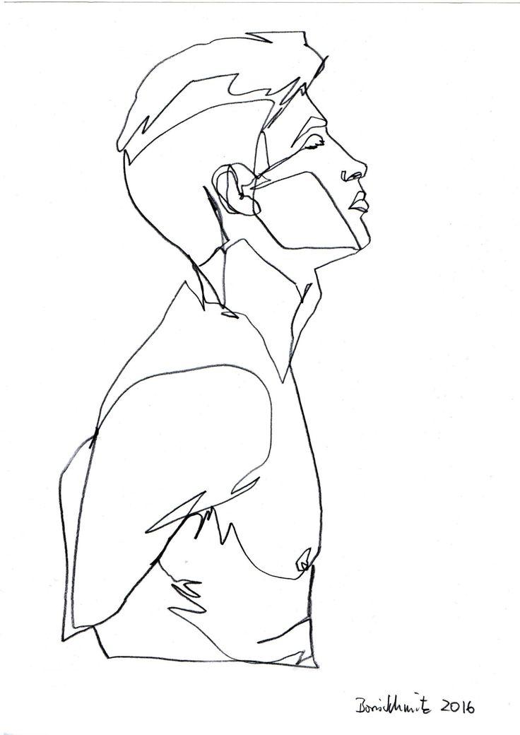 """Gaze 343″, continuous line drawing by Boris Schmitz"