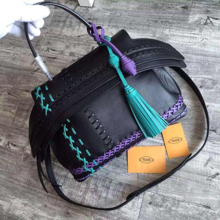 TOD'S MINI WAVE BAG Green, Violet, Grey - Bella Vita Moda