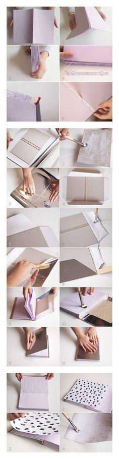 Anleitung zum Basteln eines Notizbuches