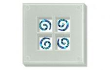 Glass Coaster Paua Koru $35.90