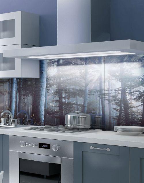 fairy tale forest printed acrylic kitchen splashback. Black Bedroom Furniture Sets. Home Design Ideas