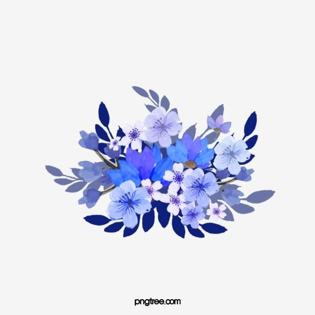Blue Flower Plant Decoration Blue Vector Flower Vector Plant Vector Png Transparent Clipart Image And Psd File For Free Download Blue Flower Png Blue Flowers Plant Vector