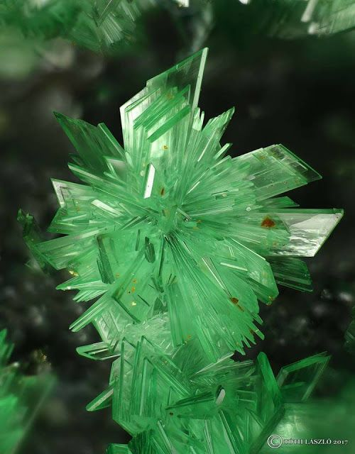 Radial Annabergite crystals from Greece | Geology IN
