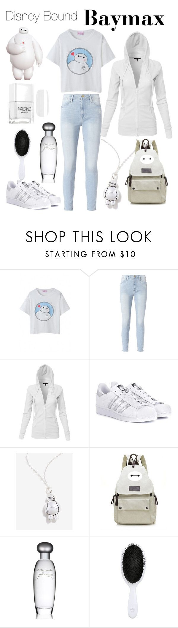 """""""Disney Bound: Baymax"""" by jentlelamb ❤ liked on Polyvore featuring Frame, adidas Originals and Estée Lauder"""