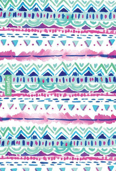 Dash Aztec by Barbra Ignatiev #wallpaper #tribal #watercolor