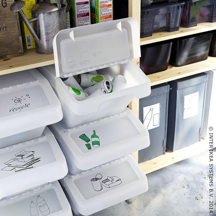 Trier vos déchets devient un jeu d'enfants grâce à nos conteneurs à couvercle SORTERA.