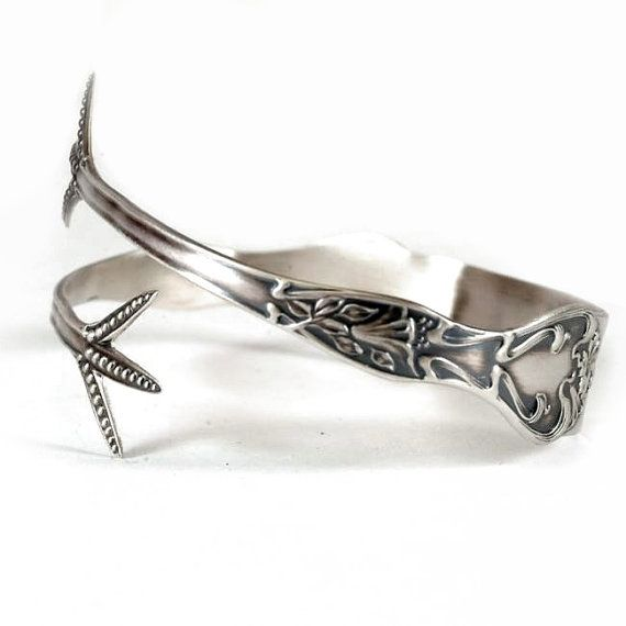 Exclusive Art Nouveau Lily Claw Spoon Cuff Bracelet by Spoonier, $68.00