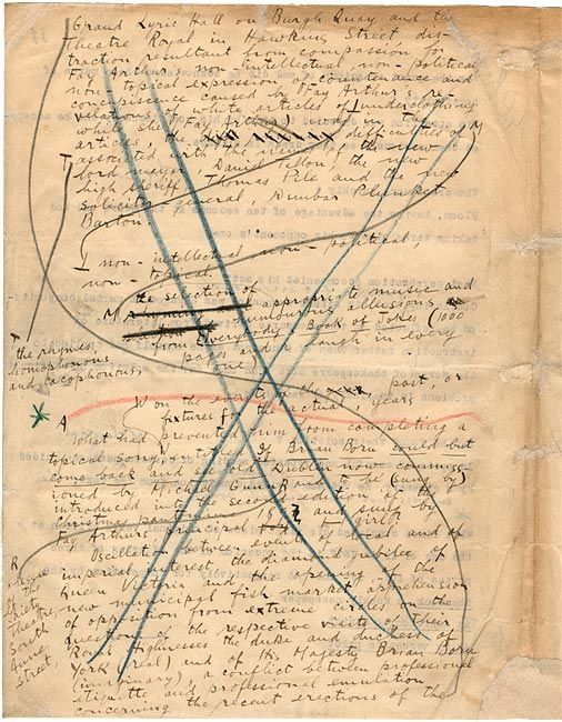 Ulysses manuscript fragment, James Joyce
