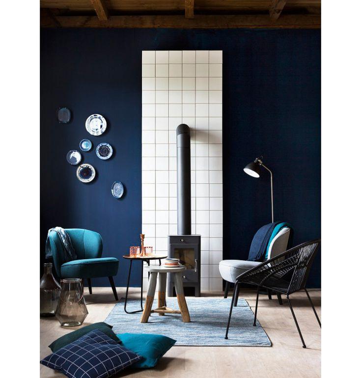 25 beste idee n over blauwe slaapkamer muren op pinterest blauwe slaapkamer kleuren blauwe - Deco blauwe kamer ...