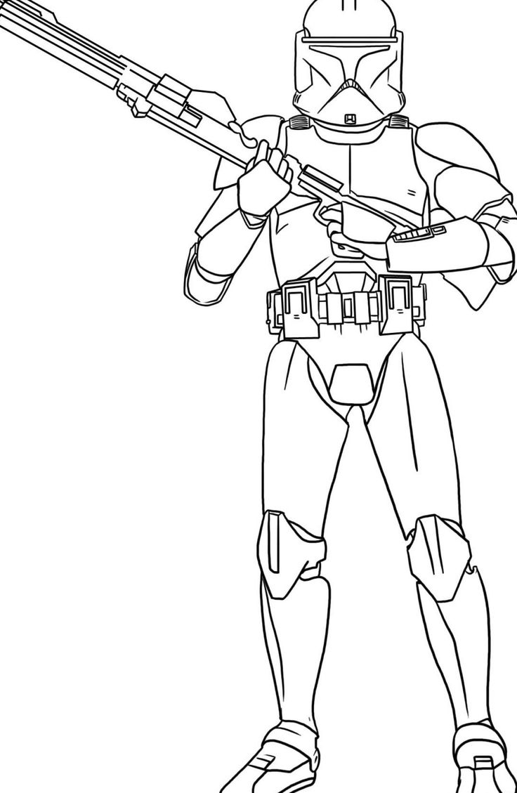 Star Wars clone trooper coloring page