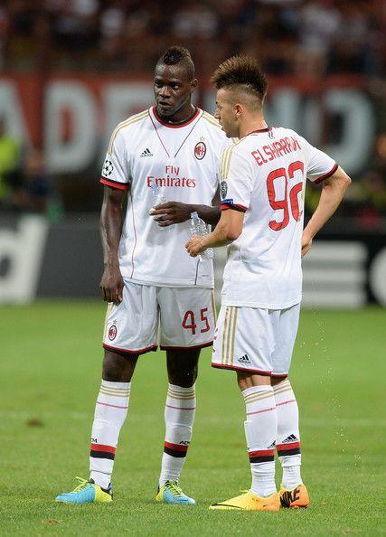 Mario Balotelli and Stephan El Shaarawy