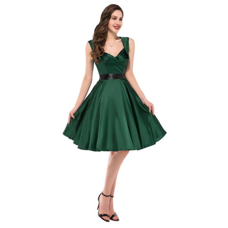Dark-Green-Dress-