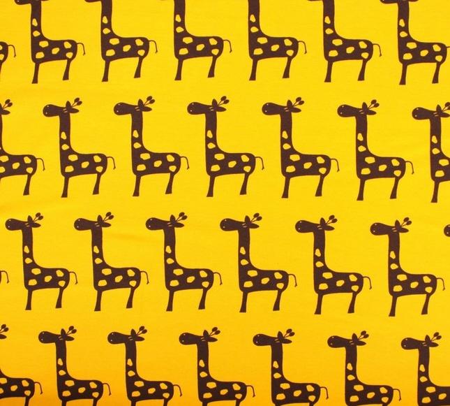 süsser Giraffen-Jersey Stoff von Swafing....