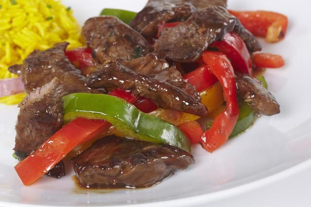 This popular pepper steak recipe is made with tender, flavorful sirloin tips. The beef is cooked with onion, garlic, and bell peppers.