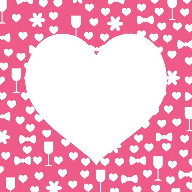 Valentines Hearts Frame Simple Blank Design Ads Company Job Template Business Modern Millennials Flyer Banner Art Heart Frame Valentines Day Border Valentines