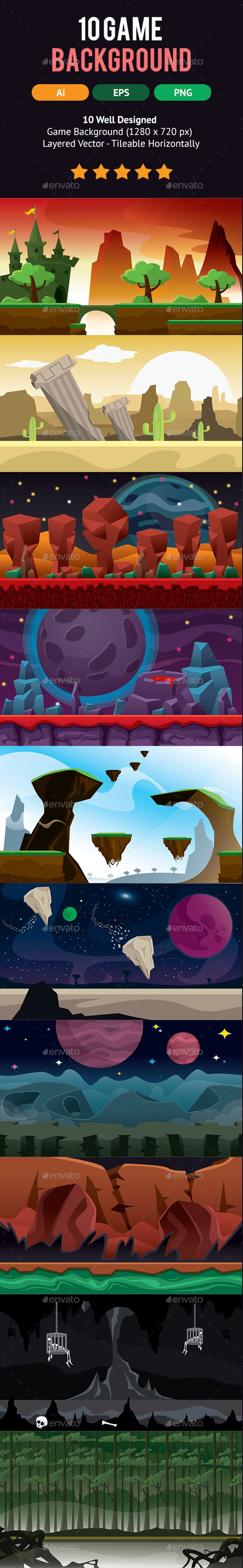10 Set Game Backgrounds Download here: https://graphicriver.net/item/10-set-game-backgrounds/16149342?ref=KlitVogli
