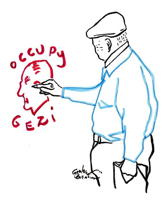 Occupy  Gezi - Gianluca Costantini