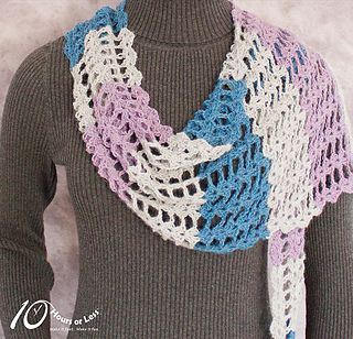 Flowery Flirt Shawl, free crochet pattern by 10 Hours or Less