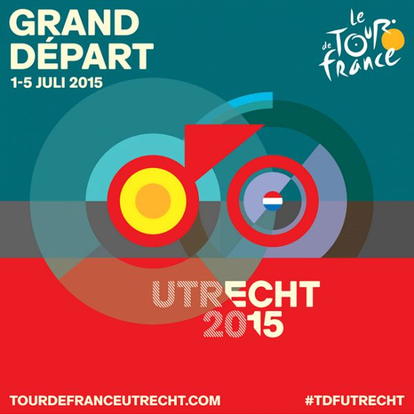Grand Départ Tour de France 2015 - Graphic Design by Total Identity, an Amsterdam, Netherlands based agency.