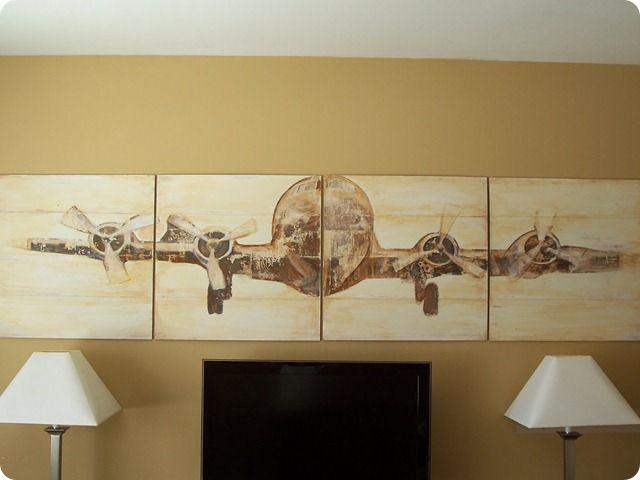 Planked Airplane Panel Art