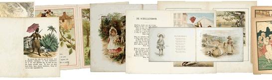 http://www.dbnl.org/onzekinderboeken/ Zevenduizend (oude) prentenboeken en kinderboeken uit het Nederlandse taalgebied. Bij elkaar op één website. Te bekijken voor iedereen. Dat is het resultaat van het project Landelijke Website Oude Kinderboeken en is een onderdeel van   De Digitale Bibliotheek voor de Nederlandse Letteren.