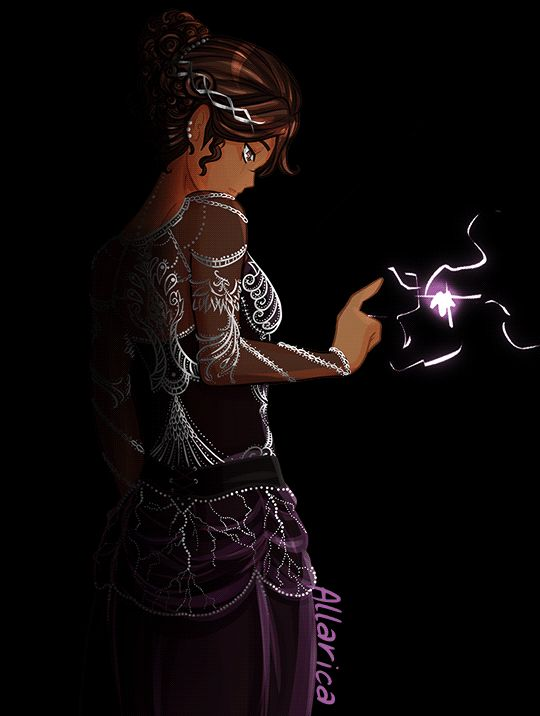 Little Lightning Girl (GIF) by allarica