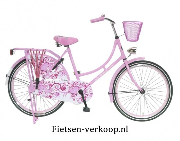 Omafiets Roze 24 Inch | bestel gemakkelijk online op Fietsen-verkoop.nl