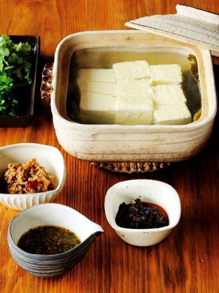 さっぱり湯豆腐は、 たれで味を変えてみて。 『ELLE gourmet(エル・グルメ)』はおしゃれで簡単なレシピが満載!