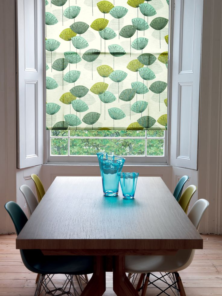 Sanderson Dandelion Clocks roller blind with matching chairs!